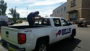 Ray Sands Glass Shining Bills' Truck